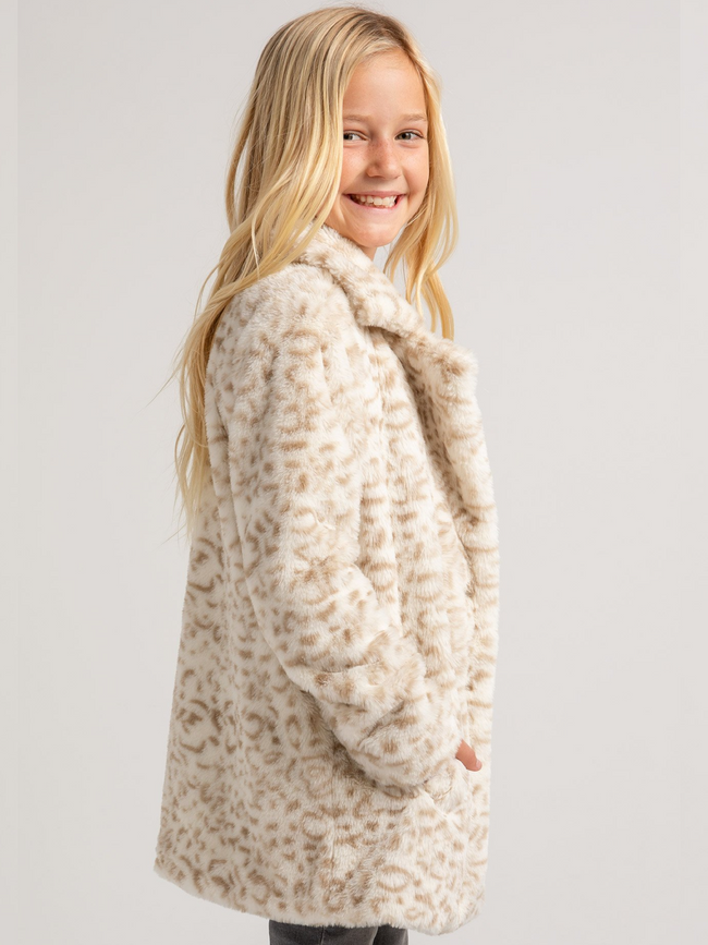 Girls Avery Leopard Jacket
