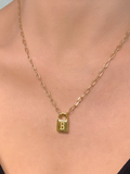 Secret Identity Initial Lock Necklace