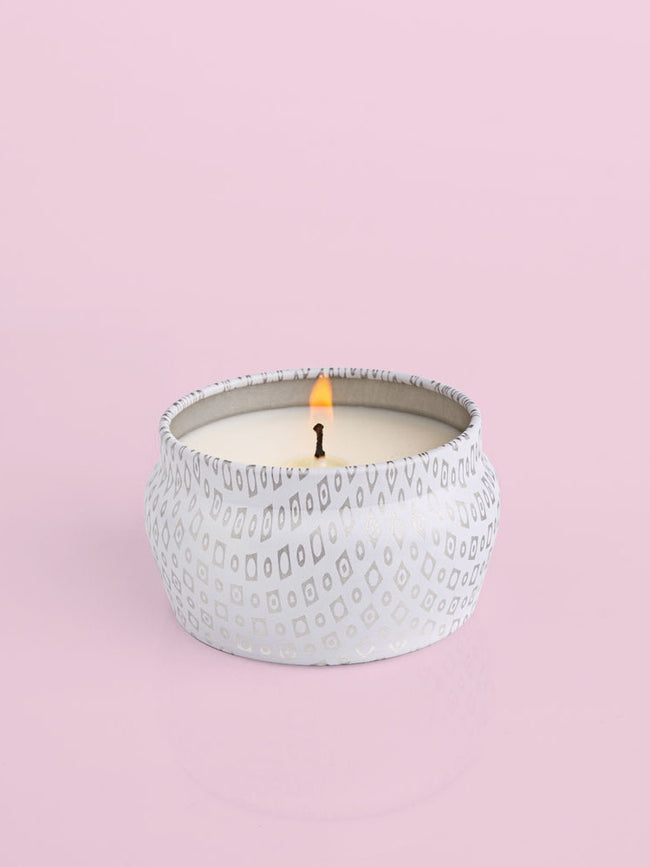White Mini Tin, 3 oz Candle