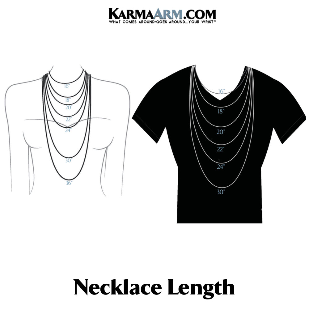 Necklace Length Chart.