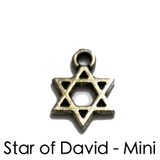 Star of David Disc Charms Yoga Chakra Bracelets. Reiki Healing Jewelry.