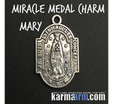 Virgin Mary Miracle Medal.  Men's & Women's Charm Bracelets.