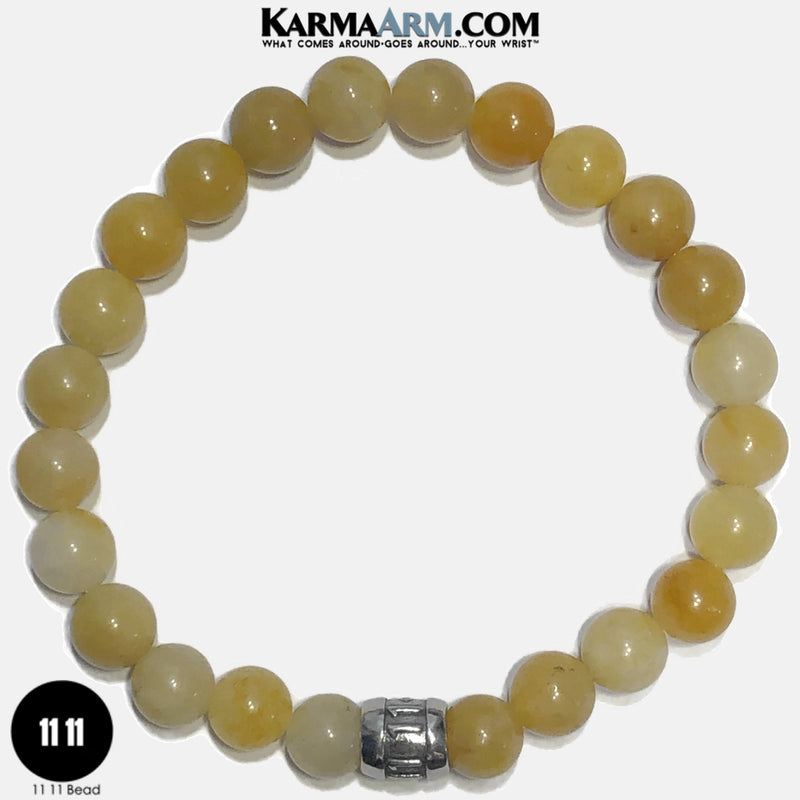 11 11 Angel Numbers Meditation Mantra Yoga Bracelets. Self Care Wellness Wristband Jewelry. Yellow Aventurine. copy