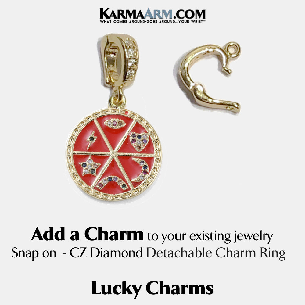 ADD A CHARM | LUCKY CHARMS | CZ Diamond | Evil Eye | Heart | Moon | Rainbow | Star | Lightning Bolt | Red Enamel