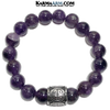 Amethyst Good Luck Symbol Yoga Bracelets. Self-Care Wellness Meditation Jewelry.