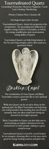 Angel Statue. Tourmalinated Quartz. Desktop Home Decor.