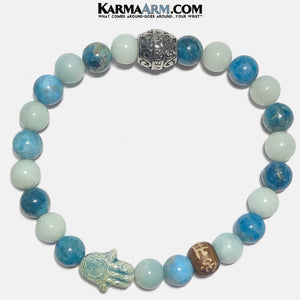 Apatite Meditation Mantra Yoga Bracelets. Mens Wristband Jewelry. Amazonite. copy 4