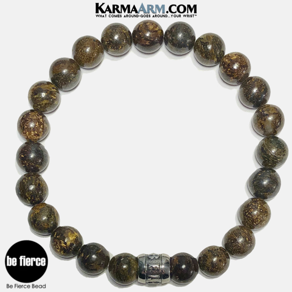 Mantra Meditation Bracelet | Bronzite | BE FIERCE Bead Jewelry