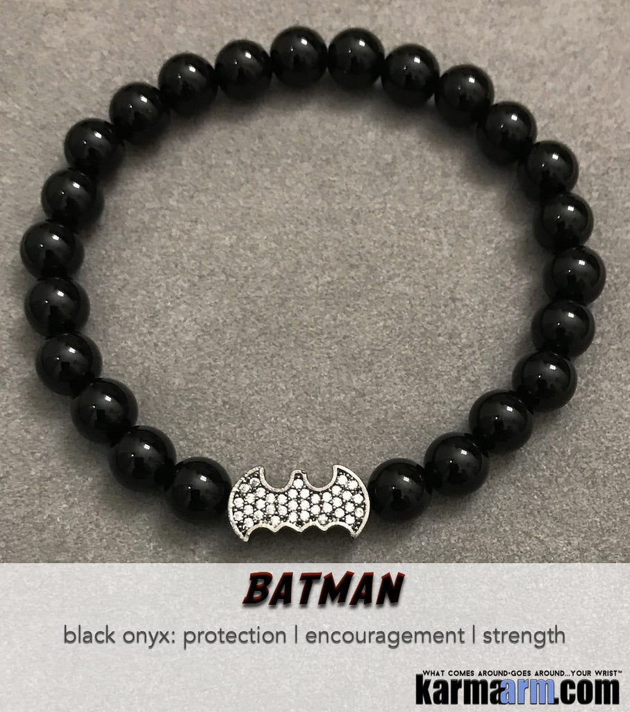 Batman Beaded Bracelets. Yoga Luxury CosPlay Comic-Con Jewelry.