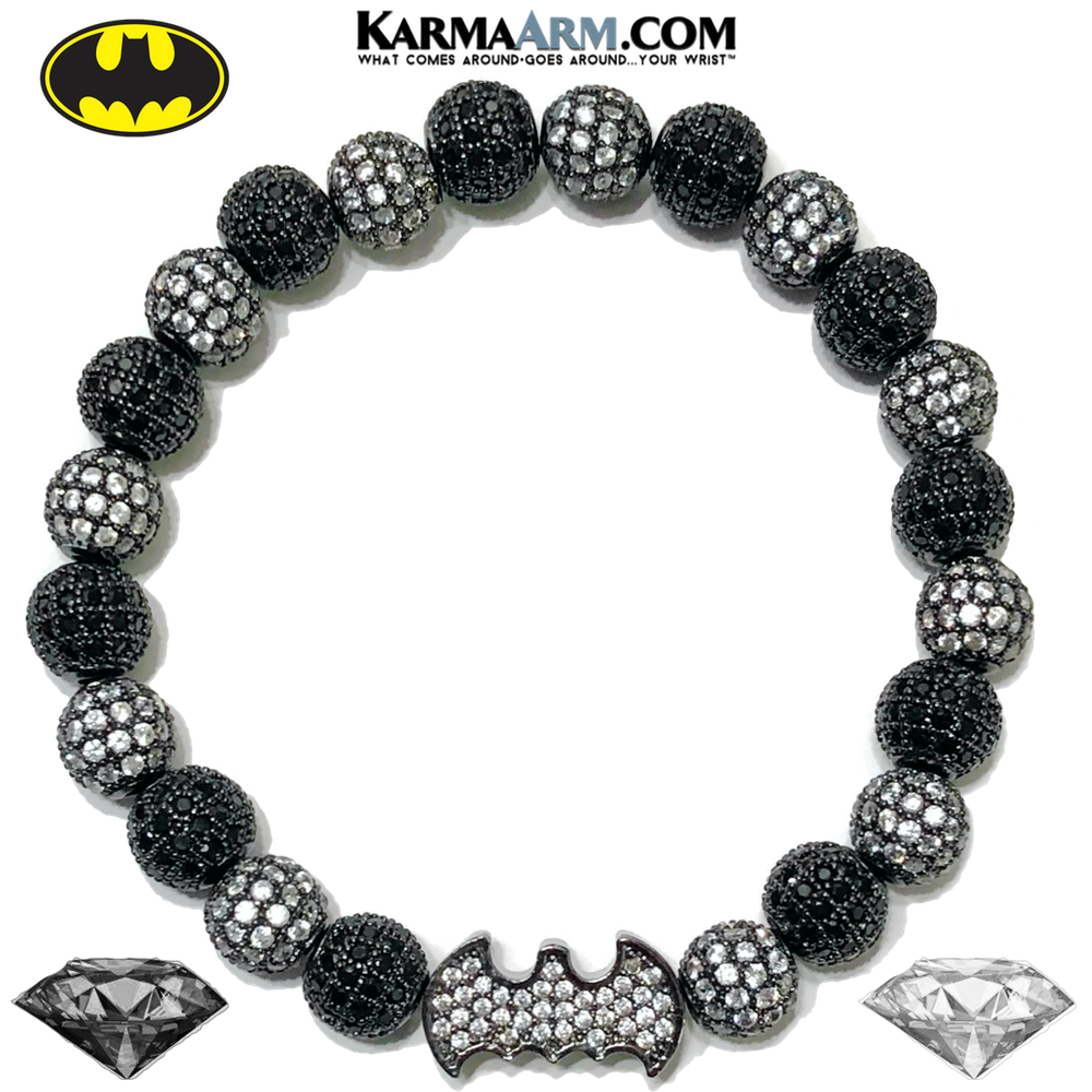 BATMAN Bracelet | CZ Diamond Bat Signal | Superhero Jewelry