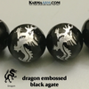 Black Agate Dragon Bead. Self-Care Wellness Meditation Bead. copy