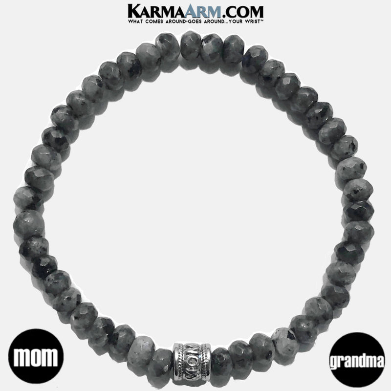 Black Moonstone Yoga Bracelets. mothers day mom self-care wellness meditation wristband jewelry.