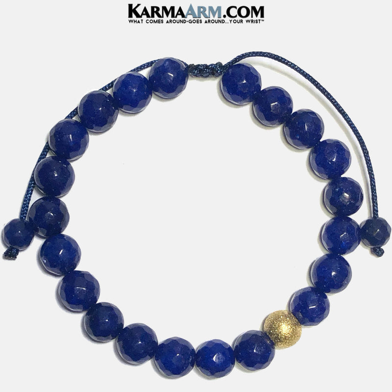 Blue Jade Meditation Mantra Yoga Bracelets. Mens Wristband Jewelry. Textured Stainless Silver. pull Tie Wristband Gold.