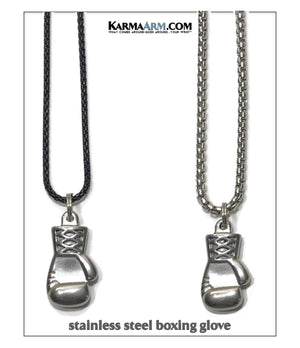 Boxing Glove Stainless Steel Necklace.