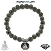Buddha Diamond Mindful Meditation Mantra Yoga Bracelet. Self-Care Wellness Wristband Jewelry.