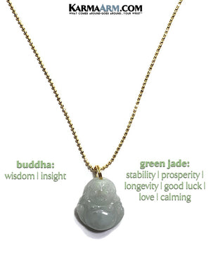 Buddha Meditation Charm Necklace. Enlightenment Calm Jade Jewelry.
