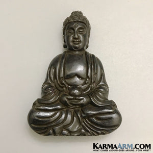 Buddha Statue. Black Jade. Desktop Home Decor.