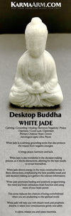 Buddha Statue. White Jade. Desktop Home Decor.