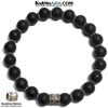 Buddhist Mantra Meditation Self-Care Wellness Yoga Bracelets. Mens Wristband Jewelry. Black Onyx. Om Mani Padme Hum.