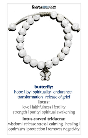 CHANGE | Lotus Carved Tridacna | Butterfly Bracelet