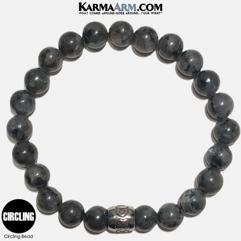 Mantra Motivation Bracelet | Black Moonstone | CIRCLING Bead Bracelet