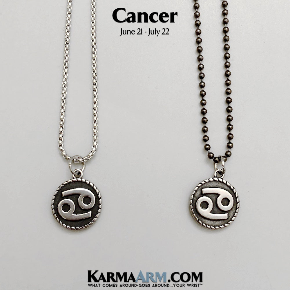 Cancer Necklace. Astrology Horoscope Zodiac Birth Sign Jewelry..