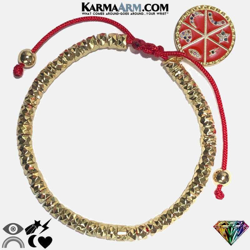 LUCKY CHARMS | CZ Diamond | Evil Eye | Heart | Moon | Rainbow | Star | Lightning Bolt | Red Enamel | Pull Tie Bracelet