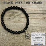 Charm Bracelets. Energy Healing. Handmade Men's Women's Luxury Beaded Mala & Jewelry. Law of Attraction. Manifest. #LOA. Black Onyx OM.
