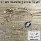 Charm Bracelets. Energy Healing. Handmade Men's Women's Luxury Beaded Mala & Jewelry. Law of Attraction. Manifest. #LOA. Lotus Pave Gold Chain.