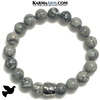 Dove Meditation Self-Care Wellness Mantra Yoga Bracelet. Bead Wristband. Crazy Lace Agate.