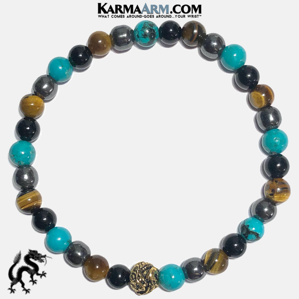 AGAINST ALL ODDS | Turquoise | Hematite | Tiger Eye | DRAGON Bracelet
