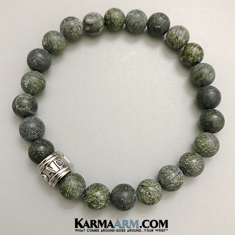Fathers Day Gifts. Mens Jewelry. BoHo Yoga Bracelets. Meditation Jewelry. Beaded Bracelets. Serpentine. Dad.