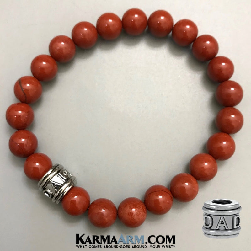 Fathers Day Gifts. Yoga Bracelets. BoHo Jewelry.  Mens Bracelets. Beaded Bracelets. Reiki Healing Bracelets. Meditation Jewelry. Mens Necklaces. Red Jasper.