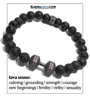 Fitness Self-Care Wellness Meditation Mantra Yoga Bracelets. Mens Wristband Jewelry. Lava. Barbell Dumbbell.