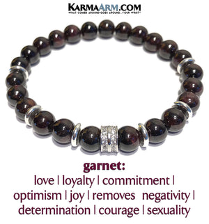 Garnet Diamond Yoga Bracelet. Meditation Self-Care Wellness Wristband Zen bead mala Jewelry.   copy 2.