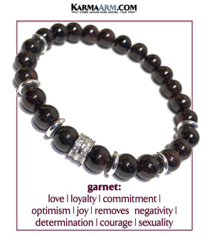 Garnet Love bracelet. mens bead jewelry. self-care wellness wristband chakra mala. copy