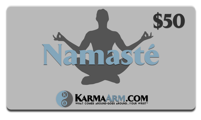 Gift Card Namaste Meditation Wellness Yoga Bracelets. Mens Wristband Jewelry.  copy 3