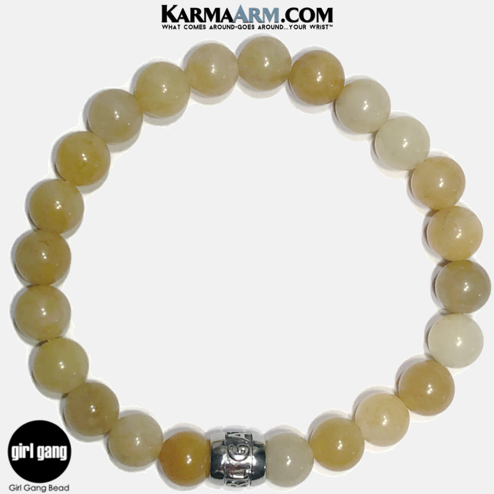 GIRL GANG | Yellow Aventurine Mantra Bracelet