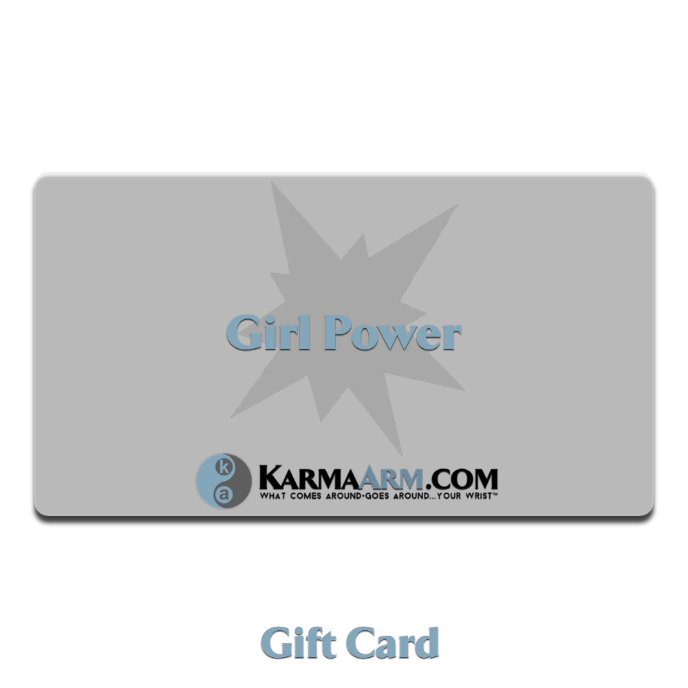 Girl Power Gift Card Meditation Wellness Yoga Bracelets. Mens Wristband Jewelry.