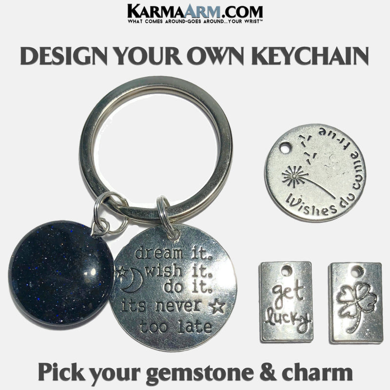 Good Luck Lucky Wish Meditation Mindfulness Keychain Gifts Key Rings. copy 3