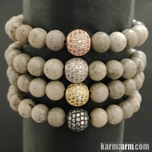 Yoga Bracelets. Diamond Pave Balls. Stretch Beaded Chakra Jewelry. Energy Healing Meditation Mala.