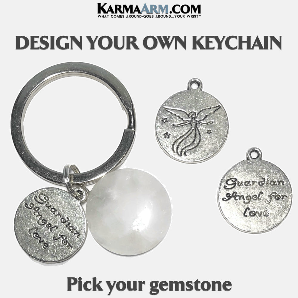 Guardian Angel LOVE Meditation Mindfulness Keychain Gifts Key Rings.