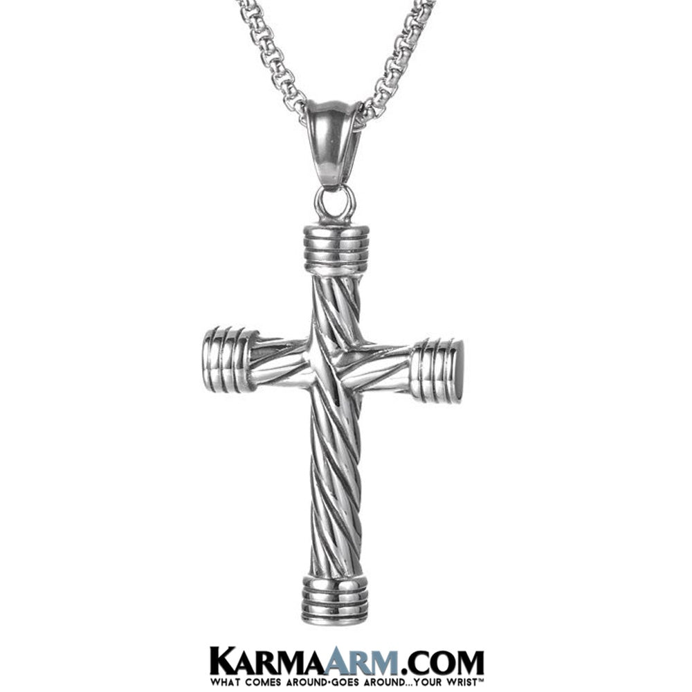 Cross Necklaces. Stainless Steel Mens Jewelry.