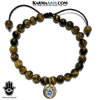 Hamsa Hand Charrm Meditation Self-care wellness Mantra Yoga Bracelets. Mens Wristband Jewelry. Tiger Eye.