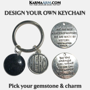 Keychain | DESIGN YOUR OWN | Hero | Martin Luther King | Gandhi