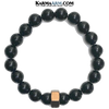 CHANGING GEARS | Black Onyx | Brown Hex Bracelet