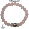 Hope Breast Cancer Awareness Ribbons. Survivor Rose Quartz Jewelry. Yoga Bracelets Womens Jewelry.