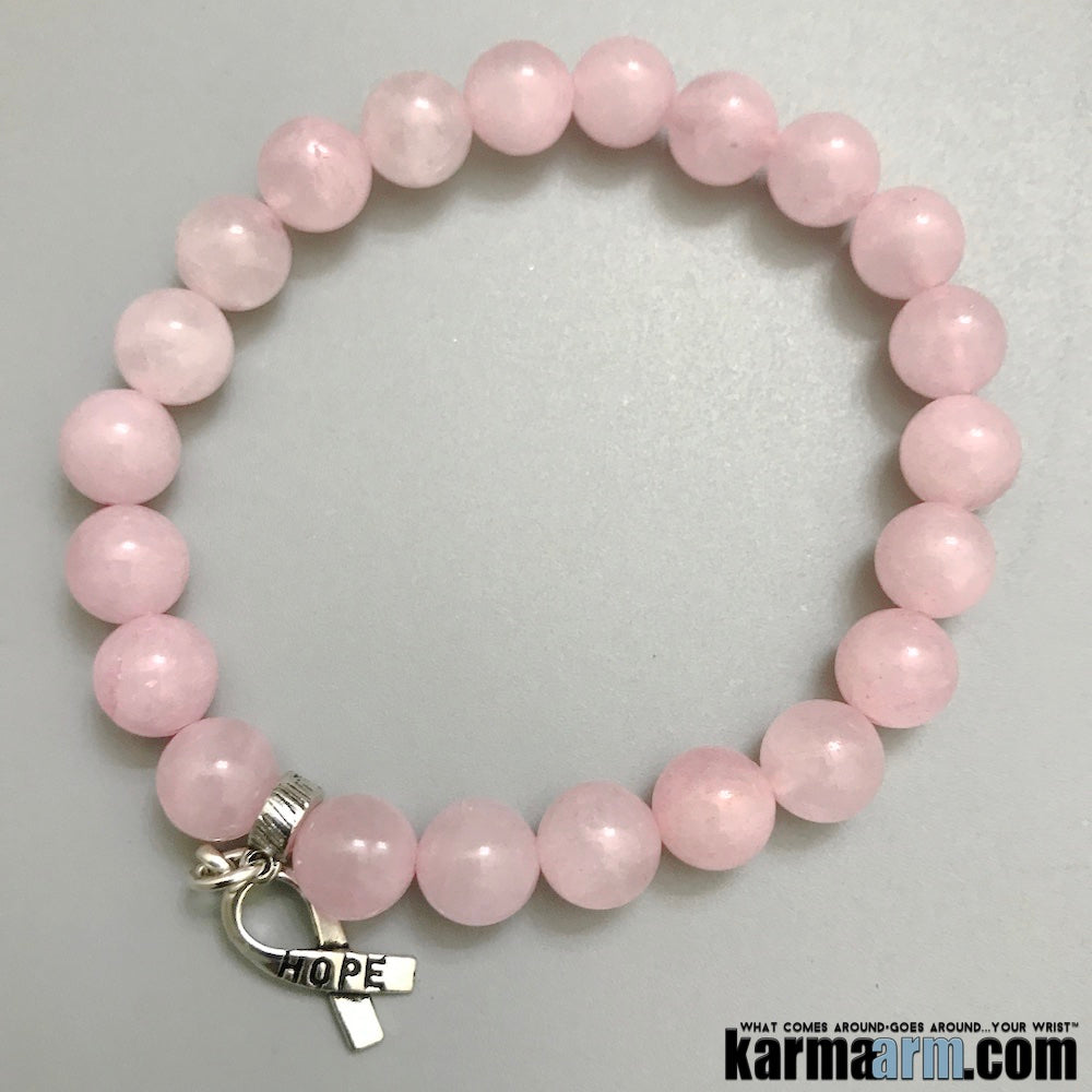 Hope Breast Cancer Awareness Ribbons. Yoga Bracelets Womens Jewelry... Ribbons Hope Charm.