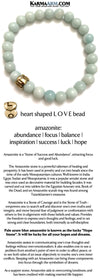 Yoga Bracelets. Love Jewelry. Beaded Bracelets. Mens Jewelry. BoHo Jewelry . Reiki Healing. Meditation. Amazonite Love Heart Bead.