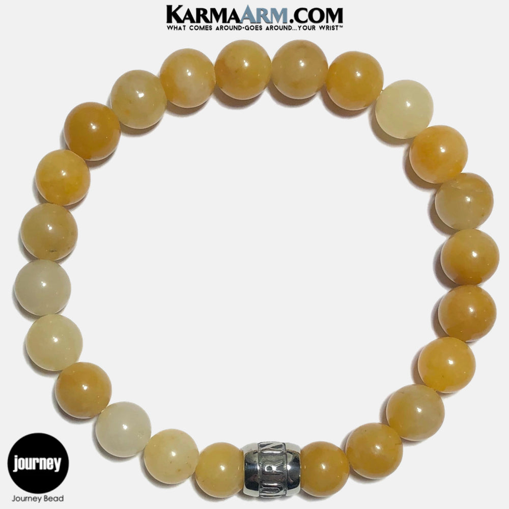 JOURNEY Meditation Mantra Yoga Bracelets. Self Care Wellness Wristband Jewelry. Yellow Aventurine. copy 7
